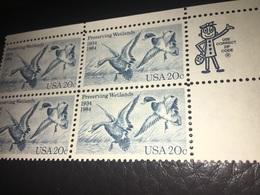 See Photos. USA. Stamps Scott # 2092 MNH Block Of 4. (50th. Anniv. Of Waterfowl Preservation 1984) - Vereinigte Staaten