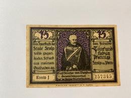 Allemagne Notgeld Stolp 75 Pfennig - [ 3] 1918-1933 : Weimar Republic