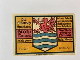 Allemagne Notgeld Stolp 1 Mark 50 - [ 3] 1918-1933 : Weimar Republic