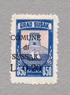 1940s WWII CROATIA,SUSAK,0.20 DIN. MUNICIPALITY REVENUE STAMP,OVERPRINT,ITALIAN OCCUPATION - Croatia
