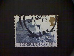 Great Britain, Scott #1447, Used(o), 1992, Edinburgh Castle, £2, Blue - Gebraucht