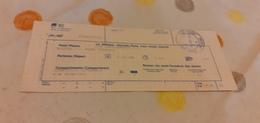 BIGLIETTO TRENO SUPPLEMENTO I.C. DA MODENA A  ROMA TERMINI A 1988 - Treni