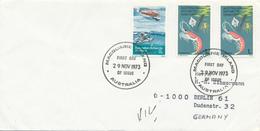 AAT -  AUSTRALIAN ANTARCTIC TERRITORY  -  MACQUARIE ISLANDS  -  29 NOV 1973  FD  , Meerestiere ... - Brieven En Documenten