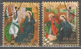 Poland  2016 - Christmas - Mi.4884-85 - Used - Used Stamps
