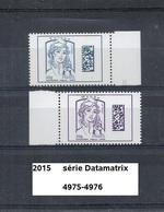 Série Datamatrix De 2015 Neuf** Y&T N° 4975-4976 - 2013-... Marianne Di Ciappa-Kawena