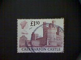 Great Britain, Scott #1231, Used(o), 1988, Caernarfon Castle, £1.50, Maroon - 1952-.... (Elisabeth II.)