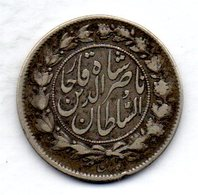 IRAN, 1 Kran (1.000 Dinars), Silver, Year AH 1296 (1878), KM #899 - Iran