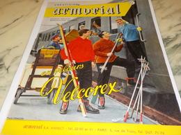 ANCIENNE PUBLICITE EN VELOUR CREATION VETEMENT DE ARMORIAL   1956 - Advertising