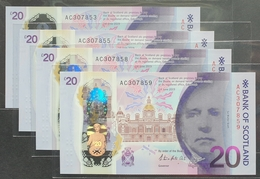 UK Scotland 20 Pounds 2019 (2020) UNC  P- New Polymer 1pc (Bank Of Scotland) - Scozia