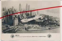 Großes Original Foto - Ca. 1931 - Verkehrsflugschiff Flugzeug Dornier Do X über New York - Ca. 12 X 16 Cm - 1919-1938: Entre Guerres