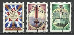 LATVIA Lettland 1993 Michel 348 - 350 O - Lettland