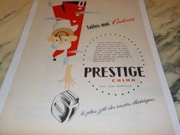 ANCIENNE PUBLICITE  RASOIR ELECTRIQUE PRESTIGE DE CALOR   1956 - Advertising