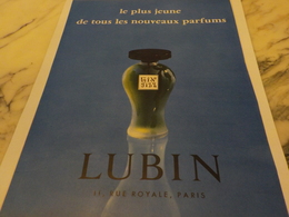 ANCIENNE PUBLICITE PARFUMEUR GIN FIZZ DE LUBIN 1956 - Advertising