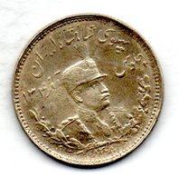IRAN, 1 Kran (1.000 Dinars), Silver, Year SH 1308 (1929), KM #1103 - Iran