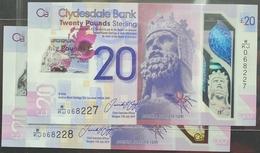 UK Scotland 20 Pounds 2019 (2020) UNC  P- New Polymer 1pc (Clydesdale Bank) - Scozia