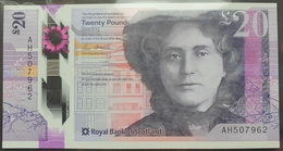 UK Scotland 20 Pounds 2019 (2020) UNC  P- New Polymer (Royal Bank Of Scotland) - Scozia