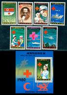 Korea 1980 Red Cross,Ship,Helicopter,Nurse,Children,Dunant,Doll,M.1971,Bl.71,MNH - Cruz Roja