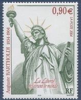 N° 3639 Centenaire De La Mort De Bartholdi Faciale 0,90 € - Ungebraucht