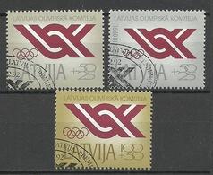 LETTLAND Latvia 1992 Michel 323 - 325 O - Lettland