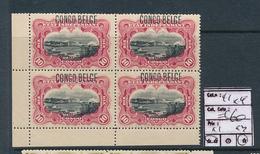 BELGIAN CONGO 1909 ISSUE TYPO COB 41 1 X MNH + 3 X LH - Belgian Congo
