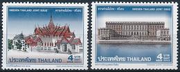 Mi 2150-51 MNH ** Joint Issue Sweden / Royal Palaces, Bangkok, Stockholm - Thaïlande