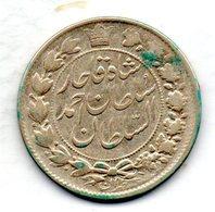 IRAN, 2 Krans (2.000 Dinars), Silver, Year AH 1328 (1910), KM #1040 - Iran