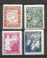 LETTLAND Latvia 1936 Michel 242 - 245 * - Lettland