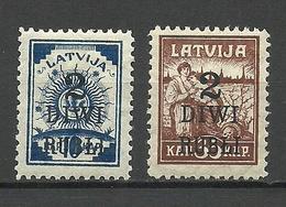 LETTLAND Latvia 1919 Michel 58 - 59 * - Lettland
