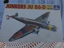 Maquette Avion Militaire--en Plastique-1/72.- Italeri Ref 114 JUNKERS JU 86-D - Airplanes