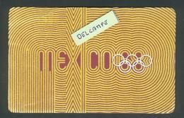 JO Mexico 1968 - Tissu Collé Sur Du Carton - - Olympic Games