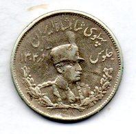 IRAN, 2 Krans (2.000 Dinars), Silver, Year SH 1306 (1927), KM #1104 - Iran