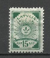 LETTLAND Latvia 1919 Michel 9 A * - Lettland