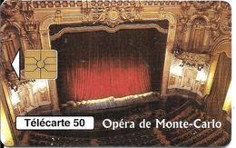 CARTE-PUBLIC-MONACO-50U-MF46-GEM A-07/97-OPERA DE MONTE CARLO-Série 6006-UTILISE-TBE - Monace