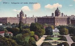 AK Wien - Volksgarten Mit Beiden Hofmuseen - 1912 (50363) - Ringstrasse