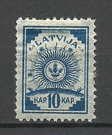 LETTLAND Latvia 1919 Michel 8 A * - Lettland