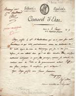 DOCUMENT ANCIEN 1800 SIGNATURE CHAMPAGNY ANCIEN MINISTRE DE L EMPIRE GRANDE ARMEE - Documents Historiques