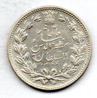 IRAN, 5 Krans (5.000 Dinars), Silver, Year AH 1320 (1902), KM #976 - Iran