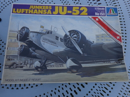 Maquette Avion Militaire--en Plastique-1/72.- Italeri Ref 150 JUNKERS J U-52 - Airplanes