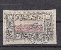 COTE DES SOMALIS 6 OBLITERE - Côte Française Des Somalis (1894-1967)
