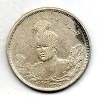 IRAN, 5 Krans (5.000 Dinars), Silver, Year AH 1334 (1915), KM #1058 - Iran
