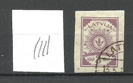 LATVIA Lettland 1919 Michel 15 Vertically Ribbed Paper O - Lettland
