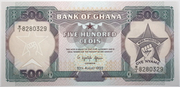 Ghana - 500 Cedis - 1993 - PICK 28c.3 - NEUF - Ghana