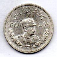 IRAN, 5 Krans (5.000 Dinars), Silver, Year SH 1306 (1927), KM #1106 - Iran