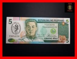 PHILIPPINES 5 Piso 1990 P. 178 A  *COMMEMORATIVE*  UNC - Filipinas