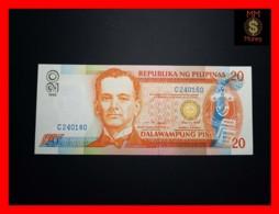 PHILIPPINES 20 Piso 1999 P. 182 D  Blue Serial   UNC - Filipinas