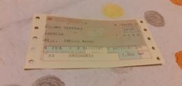 BIGLIETTO TRENO DA MILANO CENTRALE A BRESCIA 1987 - Railway
