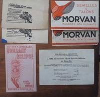 LOT DE 7 BUVARDS: 2: AGRD- 2: SEMELLES MORVAN- 2: BRILLANT ECLIPSE- 1: ÉLÈVES DE L'ÉCOLE SPÉ MILITAIRE DE SAINT-CYR - Blotters