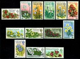 Falkland Islands 1971 Flowers,Orchid,Daisy,Lavender,Grass,Marigold,Mi.192,MNH - Orchideen