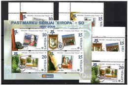 Latvia  2006 .Europa CEPT-50. 4v: 10,15,15,20 + BL.   Michel #  652-55 + BL 21 - Lettland