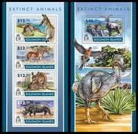 SOLOMON Isl. 2015 - Extinct Sp. - YT CV=35 €, 2688-91 + BF423 - Stamps